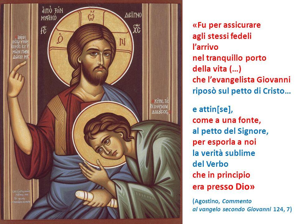 che l'evangelista Giovanni riposò sul petto di Cristo… e attin[se],